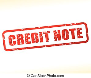 credit note text buffered - Illustration of credit note text...