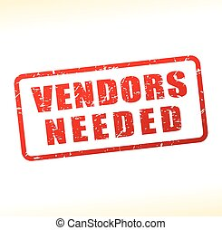 vendors needed text buffered - Illustration of vendors...
