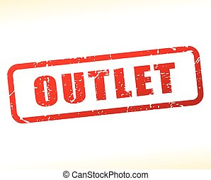 outlet text buffered - Illustration of outlet text buffered...