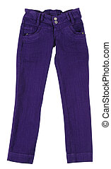 Pants. Isolated - Purple pants over white.