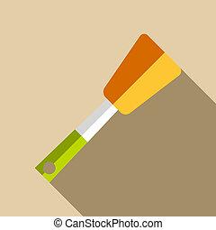 Kitchen spatula icon, flat style - Kitchen spatula icon....