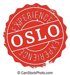 Oslo stamp rubber grunge - Oslo stamp. Grunge design with...