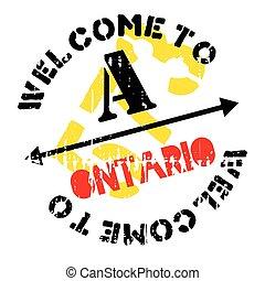 Ontario stamp rubber grunge - Ontario stamp. Grunge design...