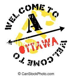 Ottawa stamp rubber grunge - Ottawa stamp. Grunge design...