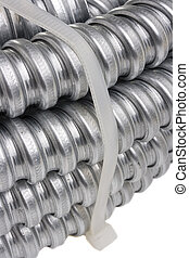 Cable protection conduit - Packed metal cable protection...