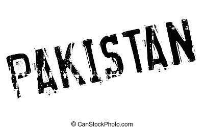 Pakistan stamp rubber grunge - Pakistan stamp. Grunge design...