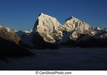 High mountains Cholatse and Taboche - View from Gokyo Ri,...