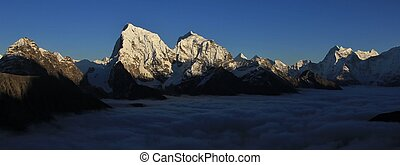 View from Gokyo Ri, Everest National Park - Snow capped...