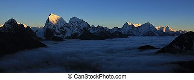 Sunset view from Gokyo Ri, Everest National Park - High...
