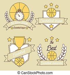Basketball line logo design