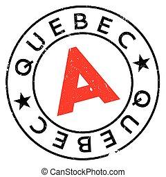 Quebec stamp rubber grunge - Quebec stamp. Grunge design...