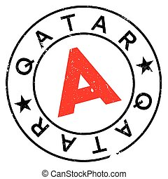 Qatar stamp rubber grunge - Qatar stamp. Grunge design with...