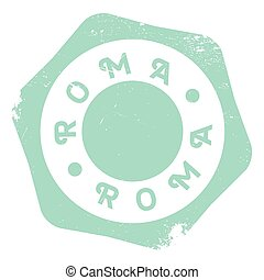 Roma stamp rubber grunge - Roma stamp. Grunge design with...