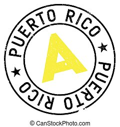 Puerto Rico stamp. Grunge design with dust scratches....