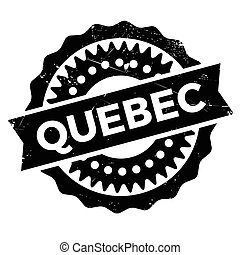 Quebec stamp rubber grunge - Quebec stamp. Grunge design...