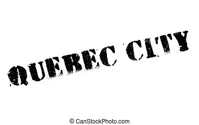 Quebec City stamp. Grunge design with dust scratches....