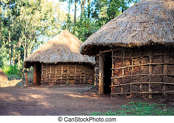 Traditional, tribal hut of Kenyan people, Nairobi