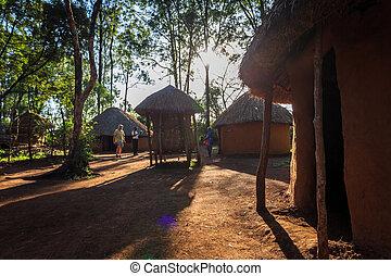 Traditional, tribal hut of Kenyan people, Nairobi