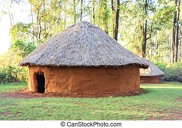 Traditional, tribal house of Kenyan people - Traditional,...