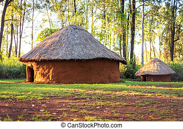 Traditional, tribal village of Kenyan people, Nairobi, East...