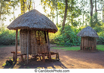 Traditional granary of Kenyan people - Traditional, tribal...