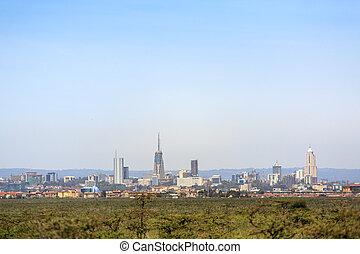 Nairobi cityscape - capital city of Kenya - Modern Nairobi...