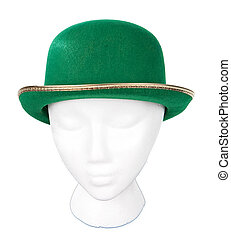 Green Irish Derby Hat - Green Irish derby hat with clipping...