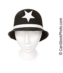 Keystone Cop Hat Isolated with a Clipping Path - Old...