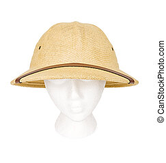 Safari Guide Hat Isolated with a Clipping Path