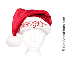 Santa Hat For Naughty Person - A Santa hat isolated on white...