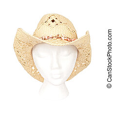 Straw Western Hat With Clipping Path
