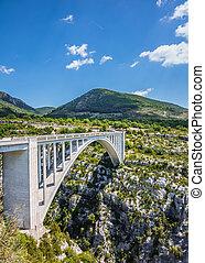 The white bridge over tributary Artuby