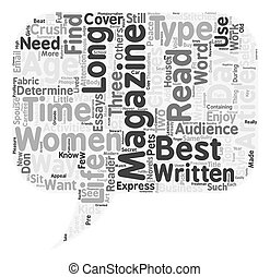 The Three A s Of Women s Magazines text background wordcloud concept