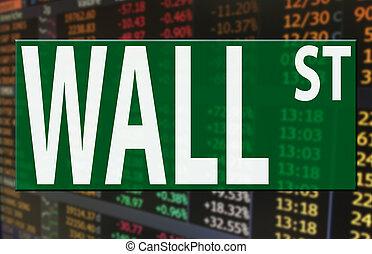索引, 牆, 價格, 街道, 標識語, 市場, 股票