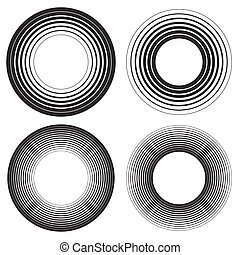 Concentric circles, concentric rings element