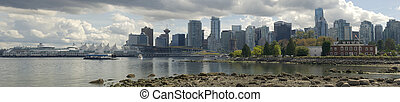 Vancouver Cityscape - A view of Vancouver looking east from...