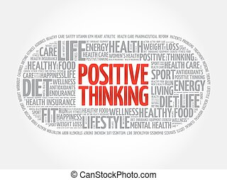 Positive thinking medical pill word cloudc - Positive...