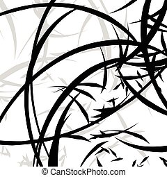 Abstract illustration with curvy lines. Random dynamic lines...