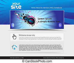 web site design - abstract music theme, web site design...