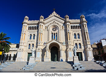 Duomo Cathedral of Reggio Calabria - Wide-angle shot of...