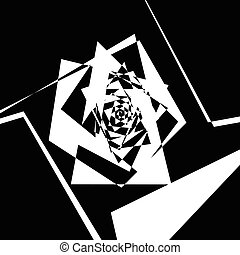 Geometric spiral pattern. Abstract monochrome texture....