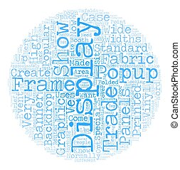 Three Ways To Create A Trade Show Booth Backdrop text background wordcloud concept