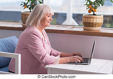 Experienced businesswoman doing her job - Working hard. Good...