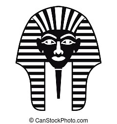 Tutankhamen mask icon, simple style - Tutankhamen mask icon....