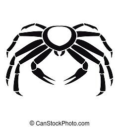 Snow crab icon, simple style - Snow crab icon. Simple...