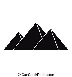 Pyramids in Giza icon, simple style - Pyramids in Giza icon....