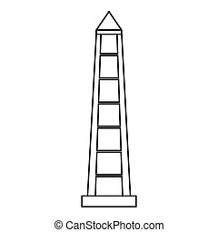 Obelisco of Buenos Aires icon, outline style - Obelisco of...