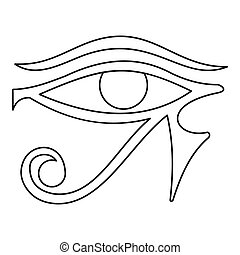 Eye of Horus icon, outline style - Eye of Horus icon....