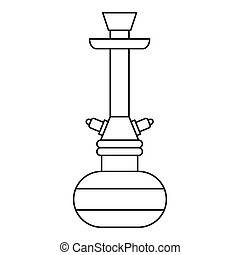 Hookah icon, outline style - Hookah icon. Outline...