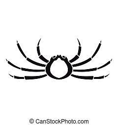 Japanese spider crab icon, simple style